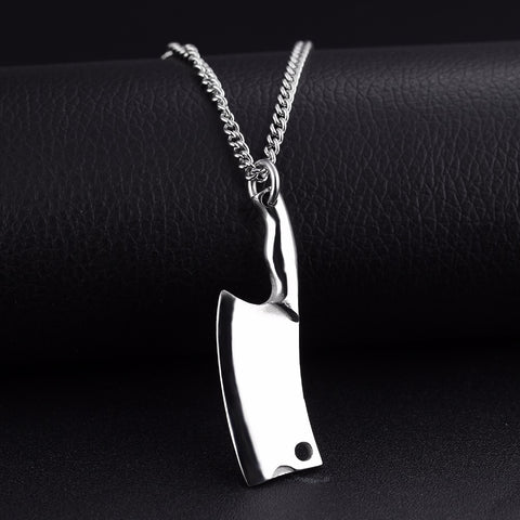 CHEF KNIFE PENDANT NECKLACE - STAINLESS STEEL