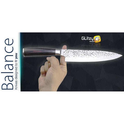 "8"" Japanese 7CR17 440C Chef Knife -  Pakka Wood Handle - £21.97 + FREE Delivery"