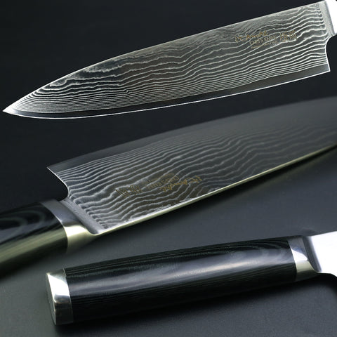 "8"" Chef Knife Japanese Kitchen Knife Damascus VG10 67 Layer Stainless Steel - Micarta Handle"