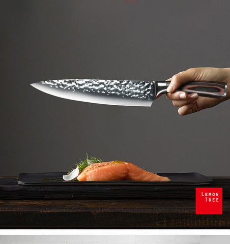 Image of Stunning Hammered 8 Inch Chef Knife -  £32.97 + FREE Shipping