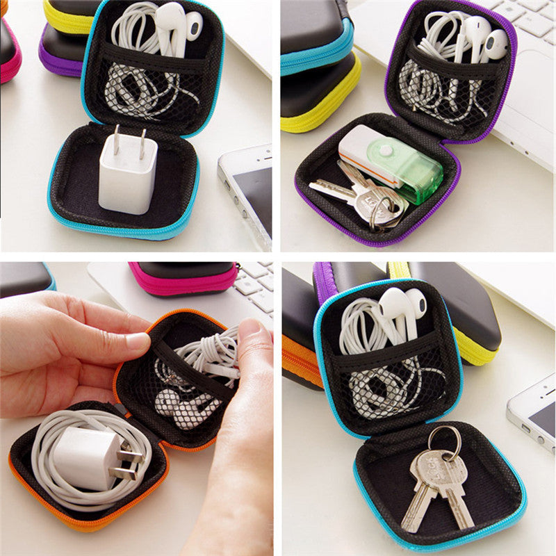 Square Earphone Wire Organizer Box