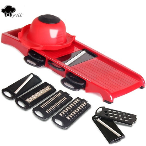 Mandoline with Multiple Attachments and Peeler