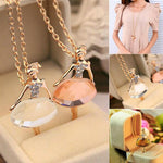 Girls Ballet Girl Chic Pendant Choker Necklace