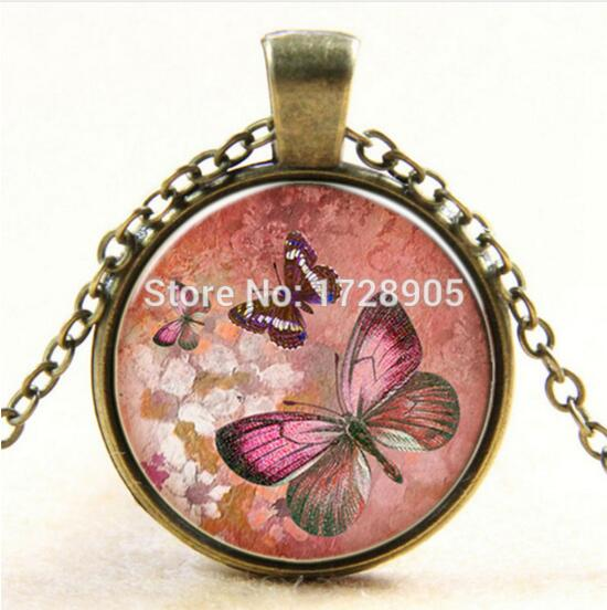 Flower Butterfly Necklace