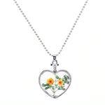 Transparent Glass Heart Pendant Necklace
