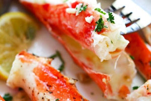 Garlic Lemon Crab Legs