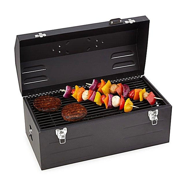 Keg-a-Que Charcoal Toolbox Grill has plenty of space for all your grilling needs