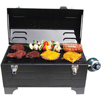 Keg-a-Que Gas Toolbox Grill offers lots of grilling space