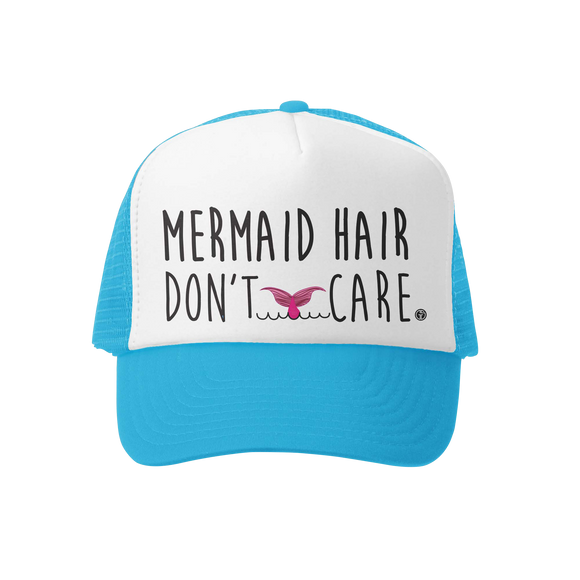 Adult Mermaid Hair Don't Care Trucker Hat
