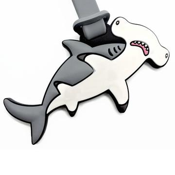 Mocha Hammerhead Shark Luggage Tag