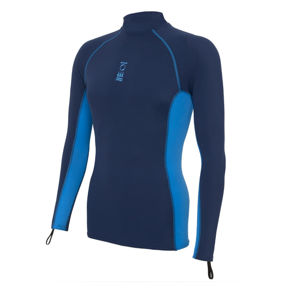 OCEAN POSITIVE MEN'S HYDROSKIN LONG SLEEVE NAVY BLUE/BRIGHT BLUE
