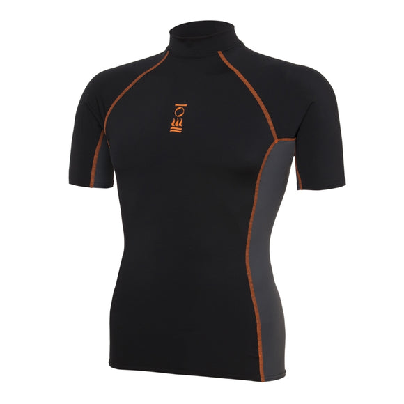 OCEAN POSITIVE MEN'S HYDROSKIN SHORT SLEEVE BLACK/CHARCOAL/ORANGE