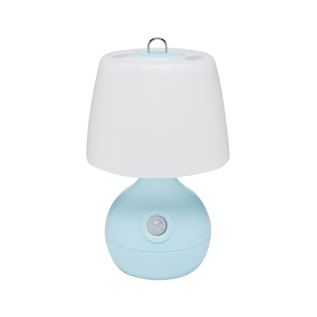 Motion-Activated Low-Light LED Light for Baby Nursery - front view, blue