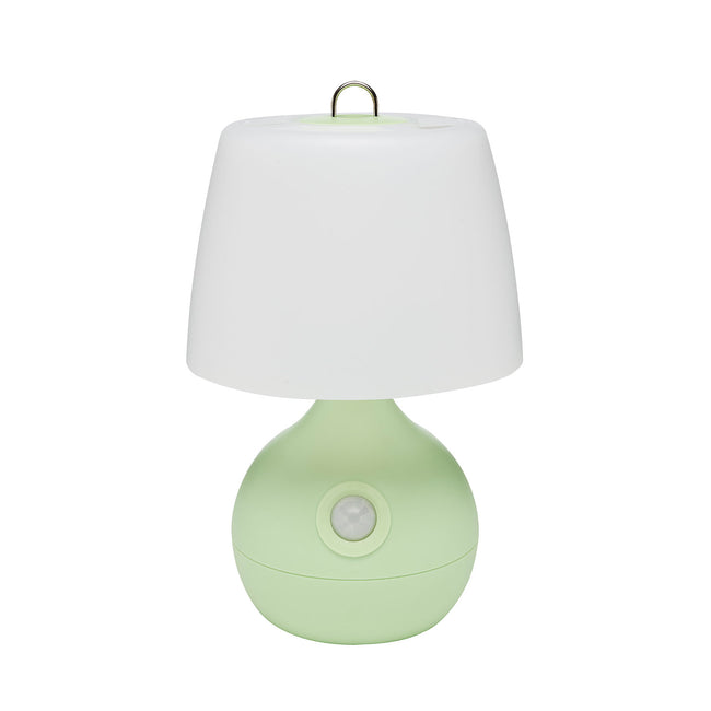 Motion-Activated Low-Light LED Light for Baby Nursery - front view, green