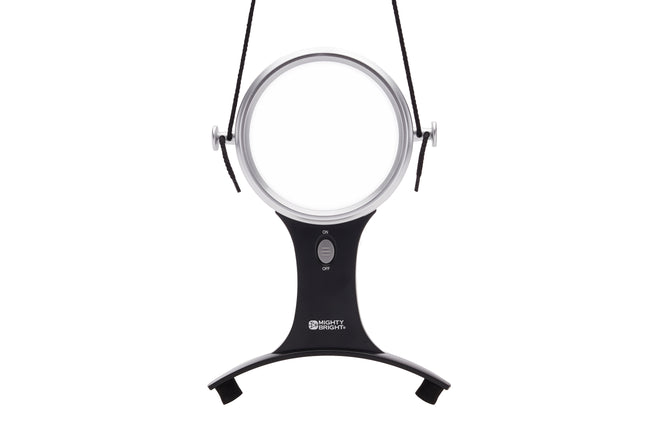 "4"" Hands-Free LED Lighted Magnifying Glass by Mighty Bright - front view"