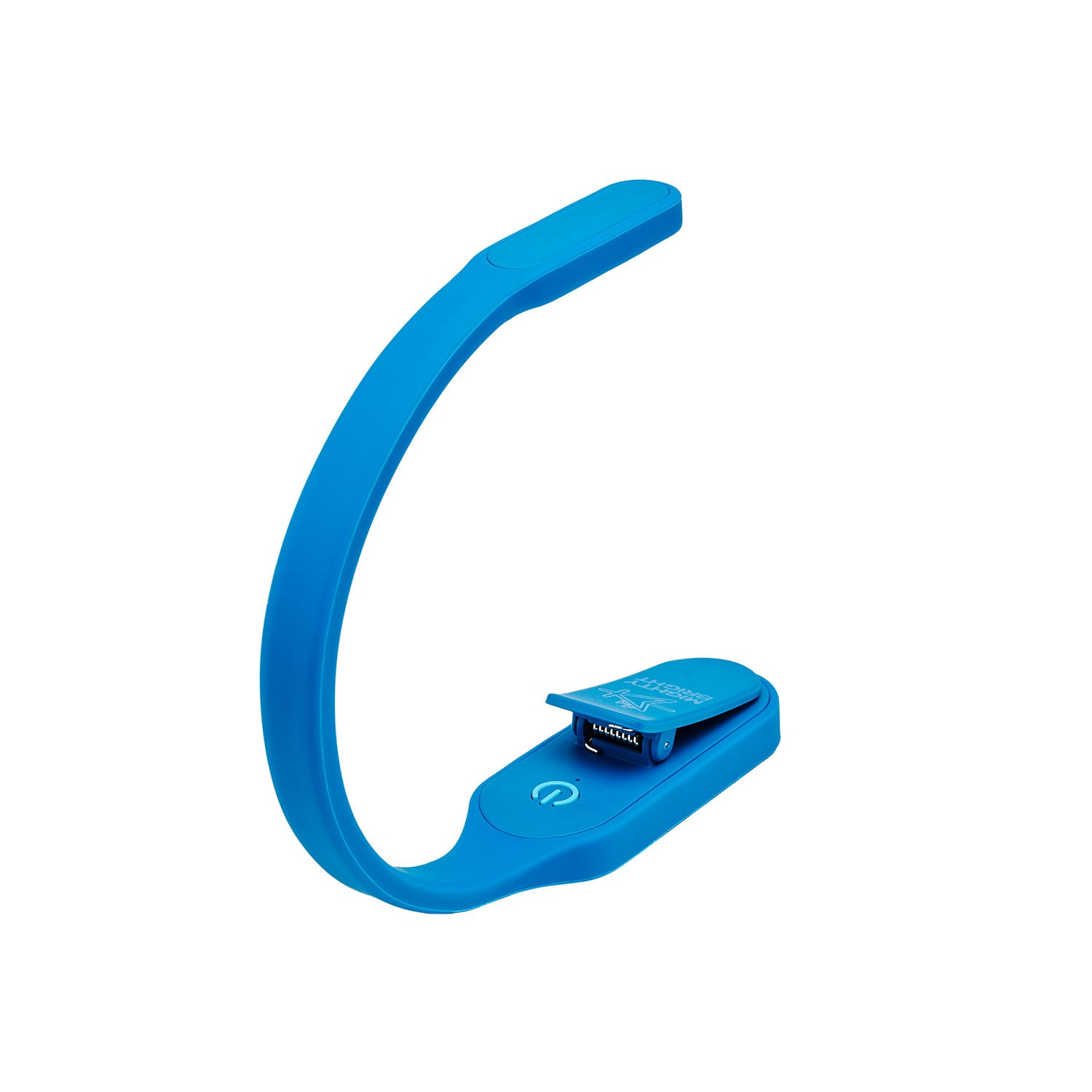 The Recharge Rechargeable Book Light with USB Power Cable by Mighty Bright - rear view, blue