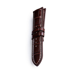 Leather strap Crocodile pattern - limerence.no