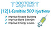 (12) L-CARNITINE 500 Injections - Doctorsweightclinics