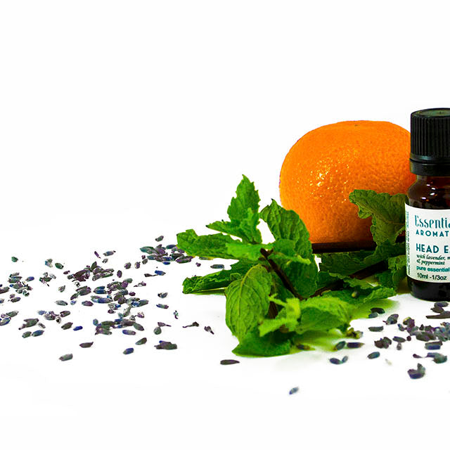 essential aura synergy blend with orange and mint