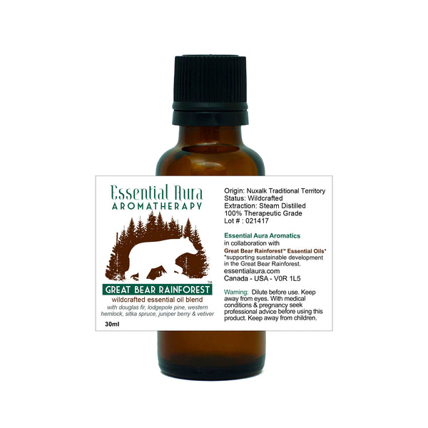 bottle of Great Bear Rainforest Essential Oil Blend