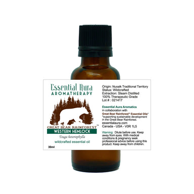 bottle of Great Bear Rainforest Western Hemlock Essential Oil