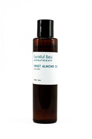 bottle of organic almond oil