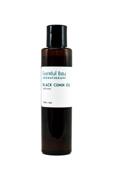 organic cumin oil in bottle