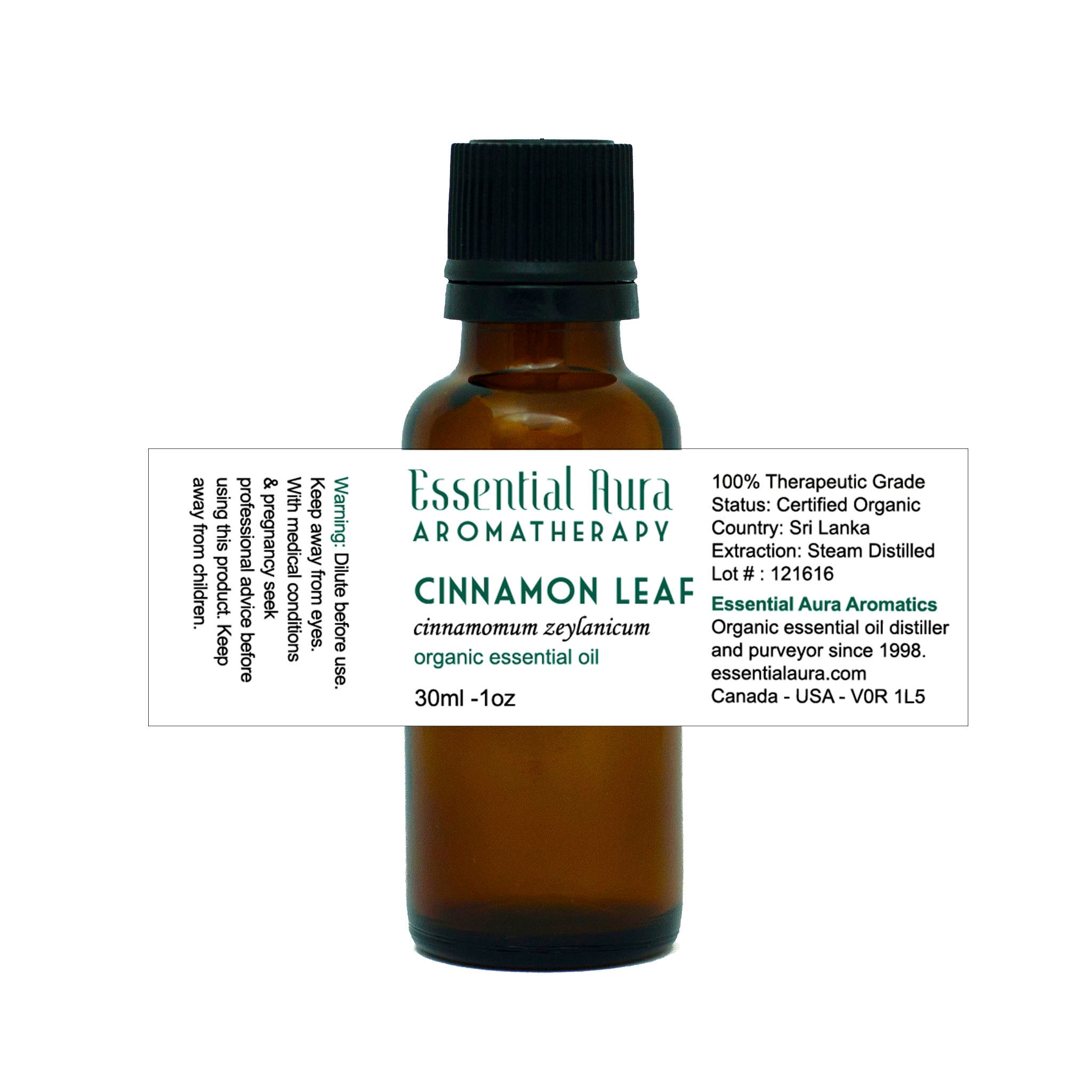 cinnamon essential oil in bottle
