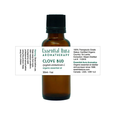 clove bud essential oil in bottle