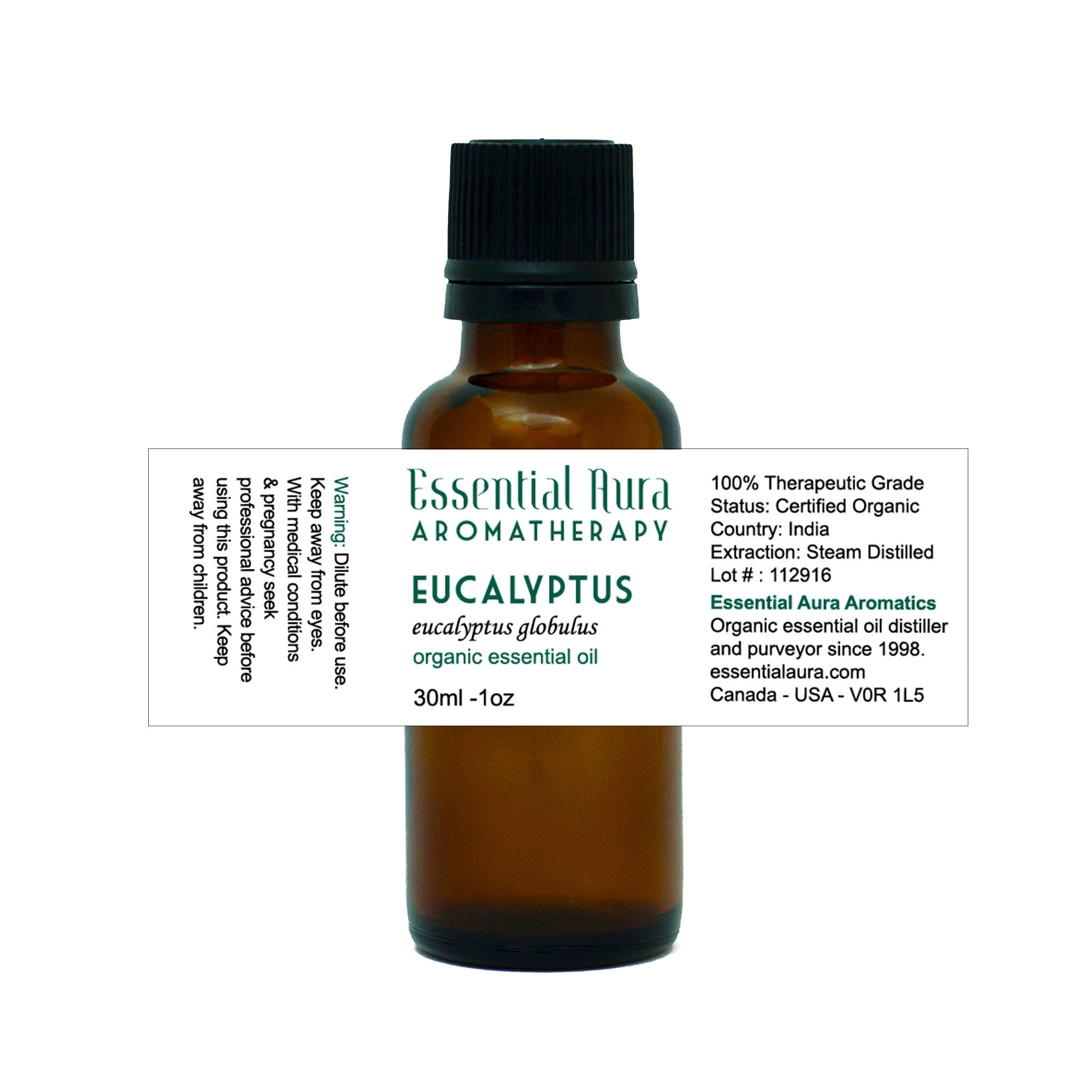 bottle of eucalyptus essential oil