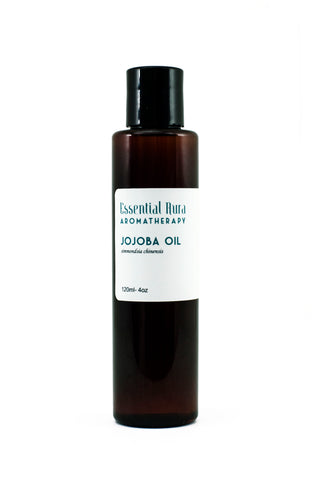 bottle of jojoba oil