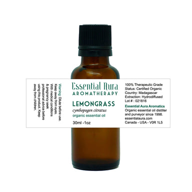 bottle of Lemongrass Essential Oil