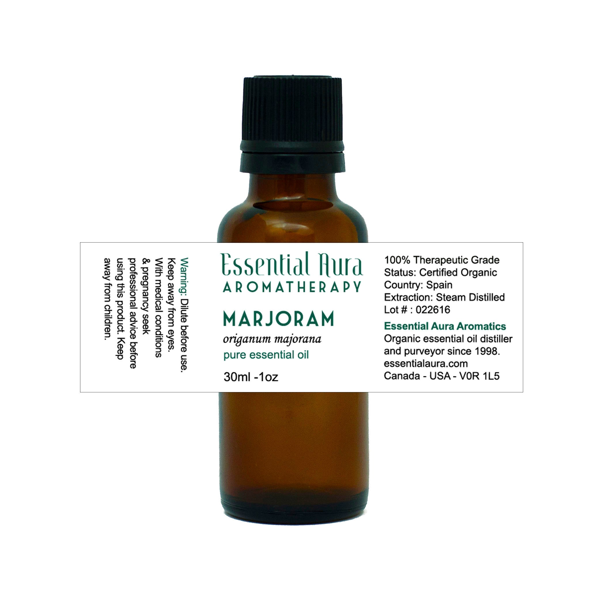 bottle of Marjoram Essential Oil