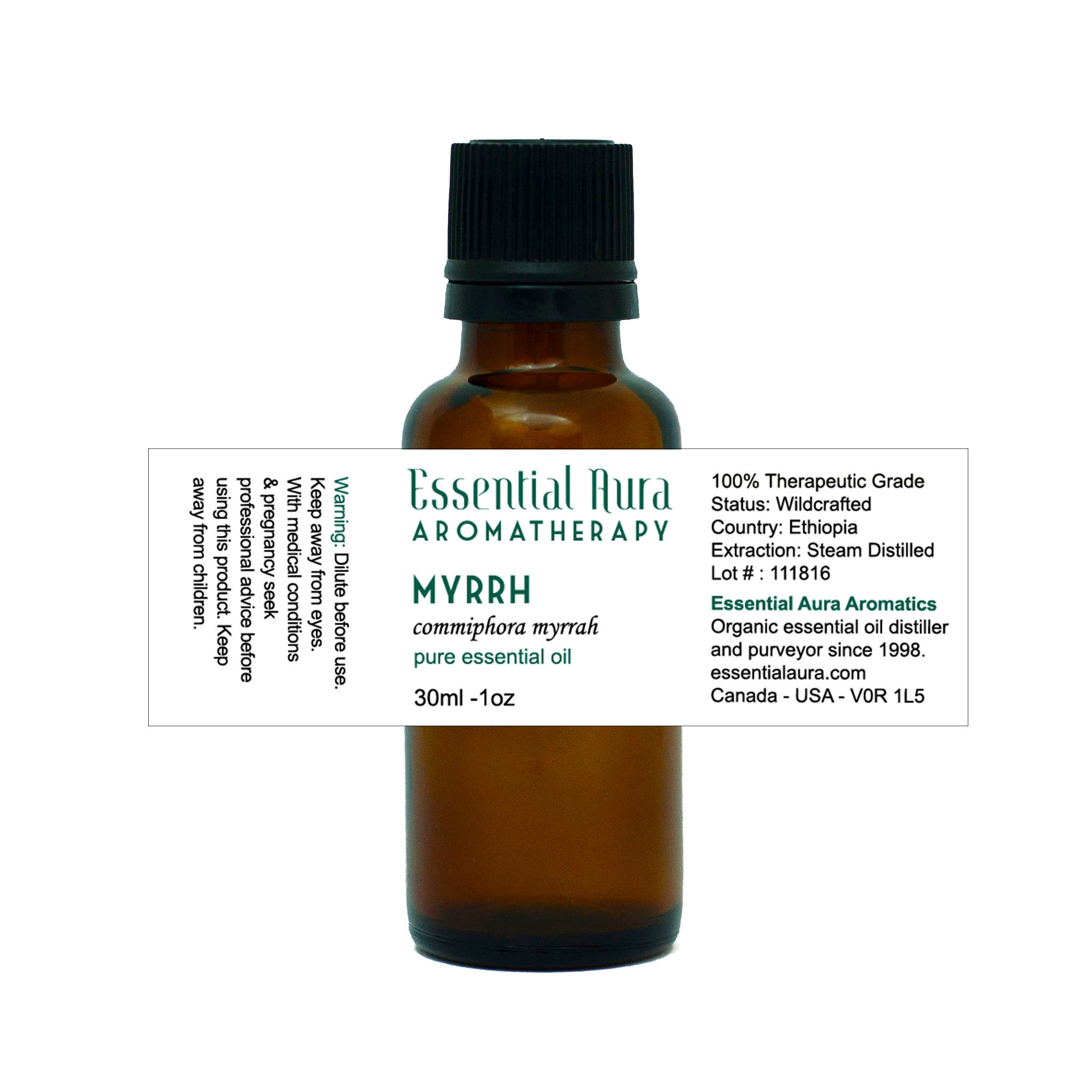 bottle of Myrrh Essential Oil