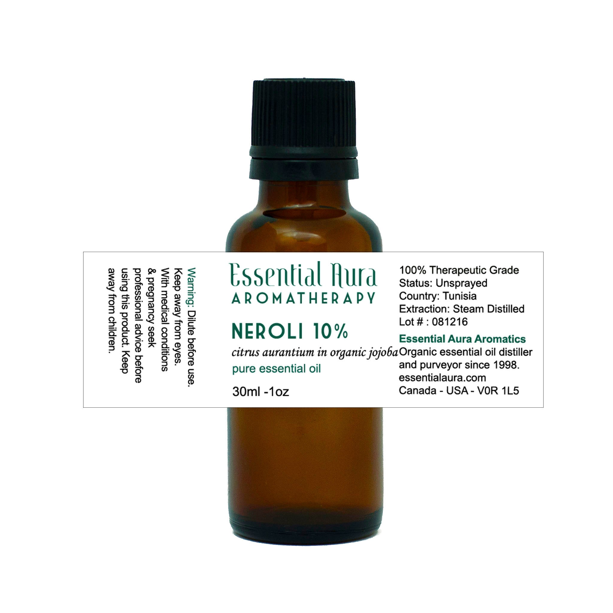 bottle of Neroli 10% Essential Oil