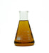 patchouli essential oil in beaker