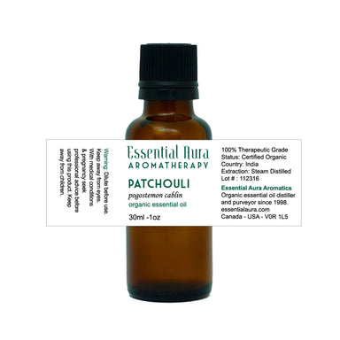 bottle of Patchouli Essential Oil