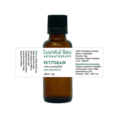 bottle of Petitgrain Essential Oil
