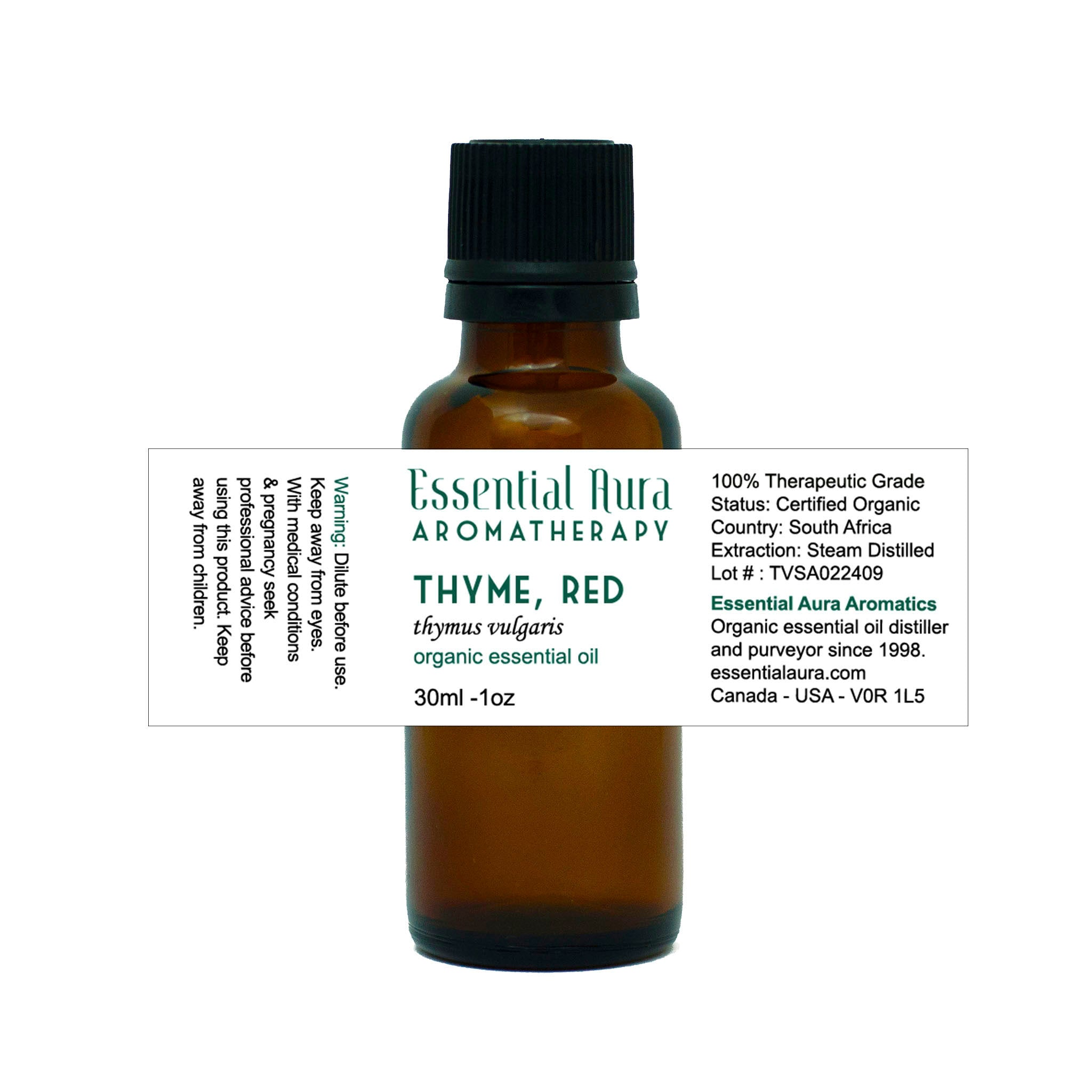bottle of Thyme Essential Oil