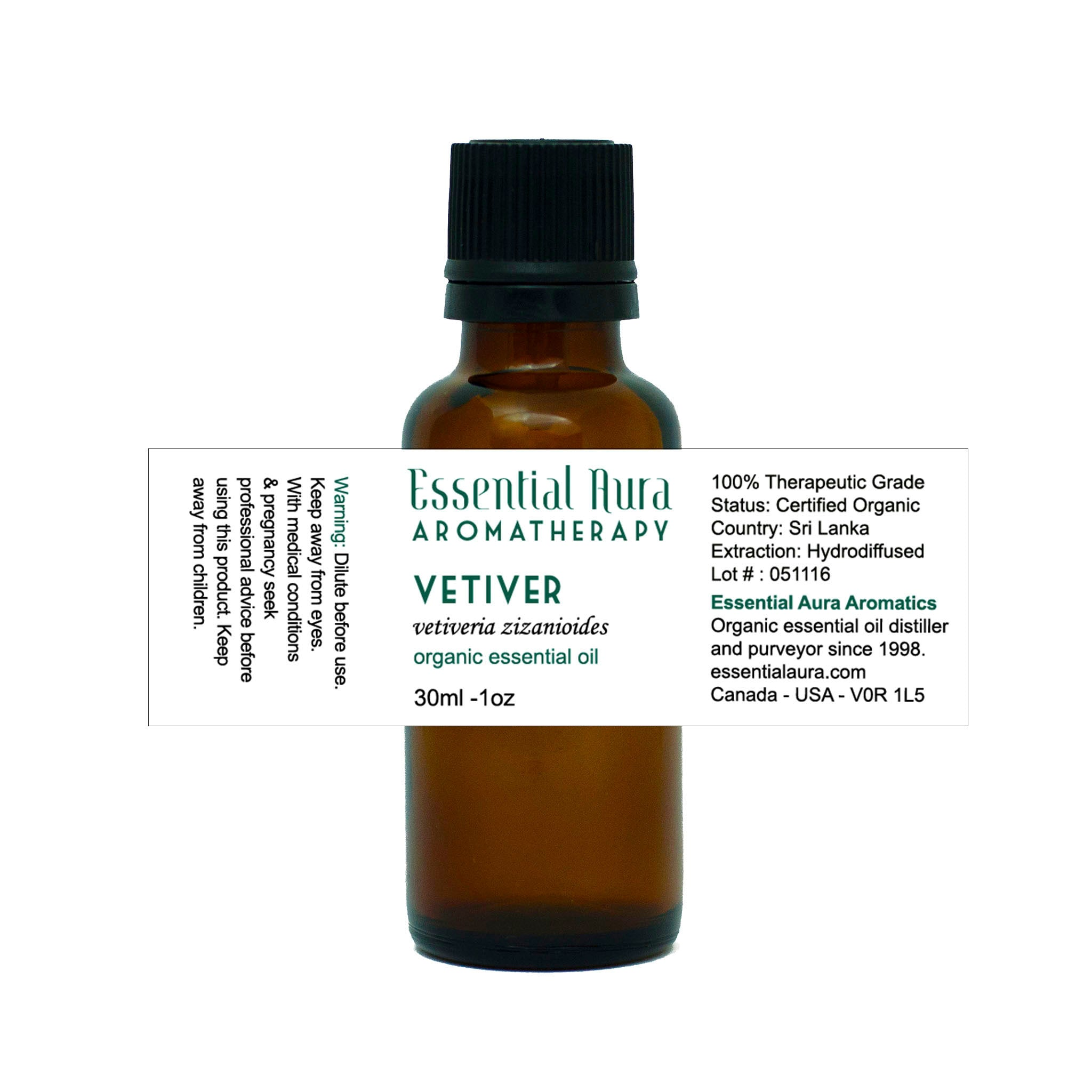 Vetiver Essential Oil Essential Aura Aromatherapy
