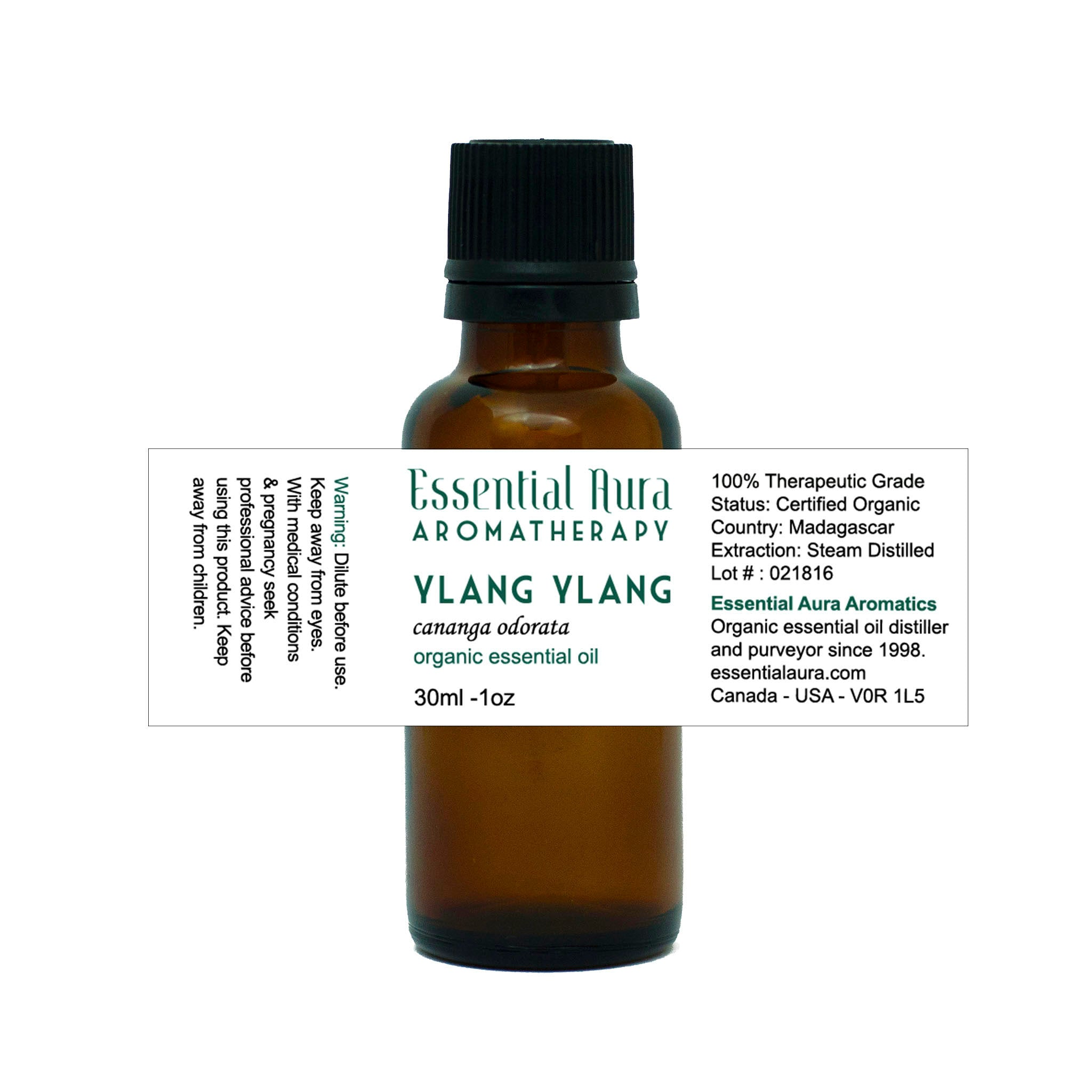 bottle of Ylang Ylang Essential Oil