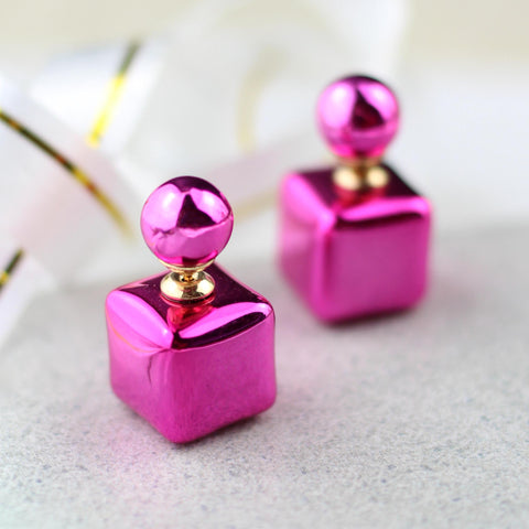 Double Sided Pink Earring
