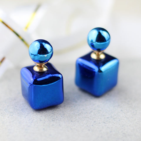 Double Sided Blue Earring