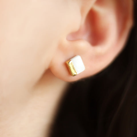 Gold Dipped Stud Earring