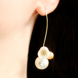 Pearl Flower Dangle Earring