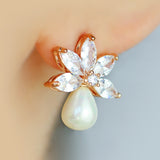 Statement Pearl Flower Stud Earring