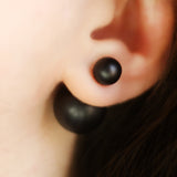 Matte Black Double Sided Earring