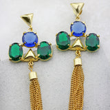 Designer Tassel Drop Earrings