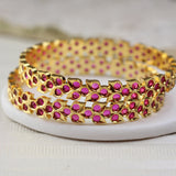 Dotted Bangle Pair