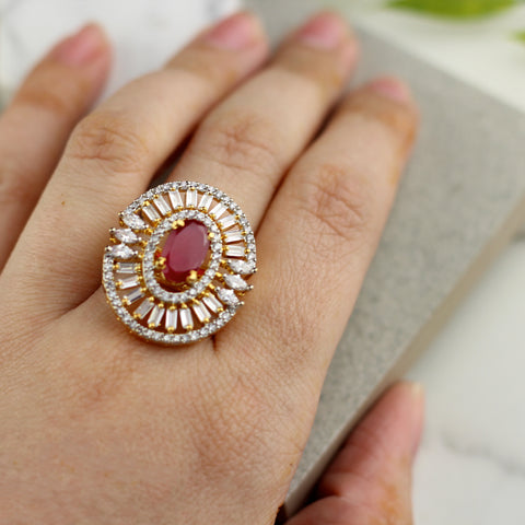 Zircon Studded Ring